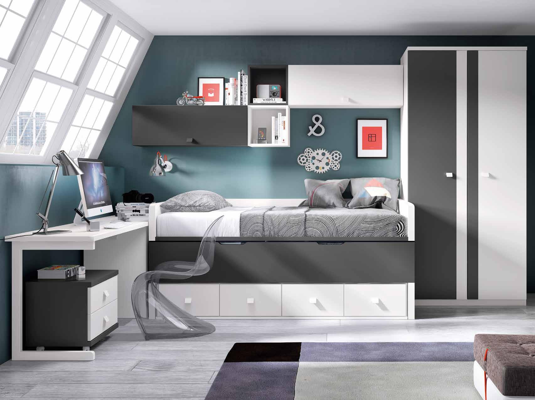 Mobiliario muebles adimara logro o la rioja - Habitaciones juveniles para chico ...